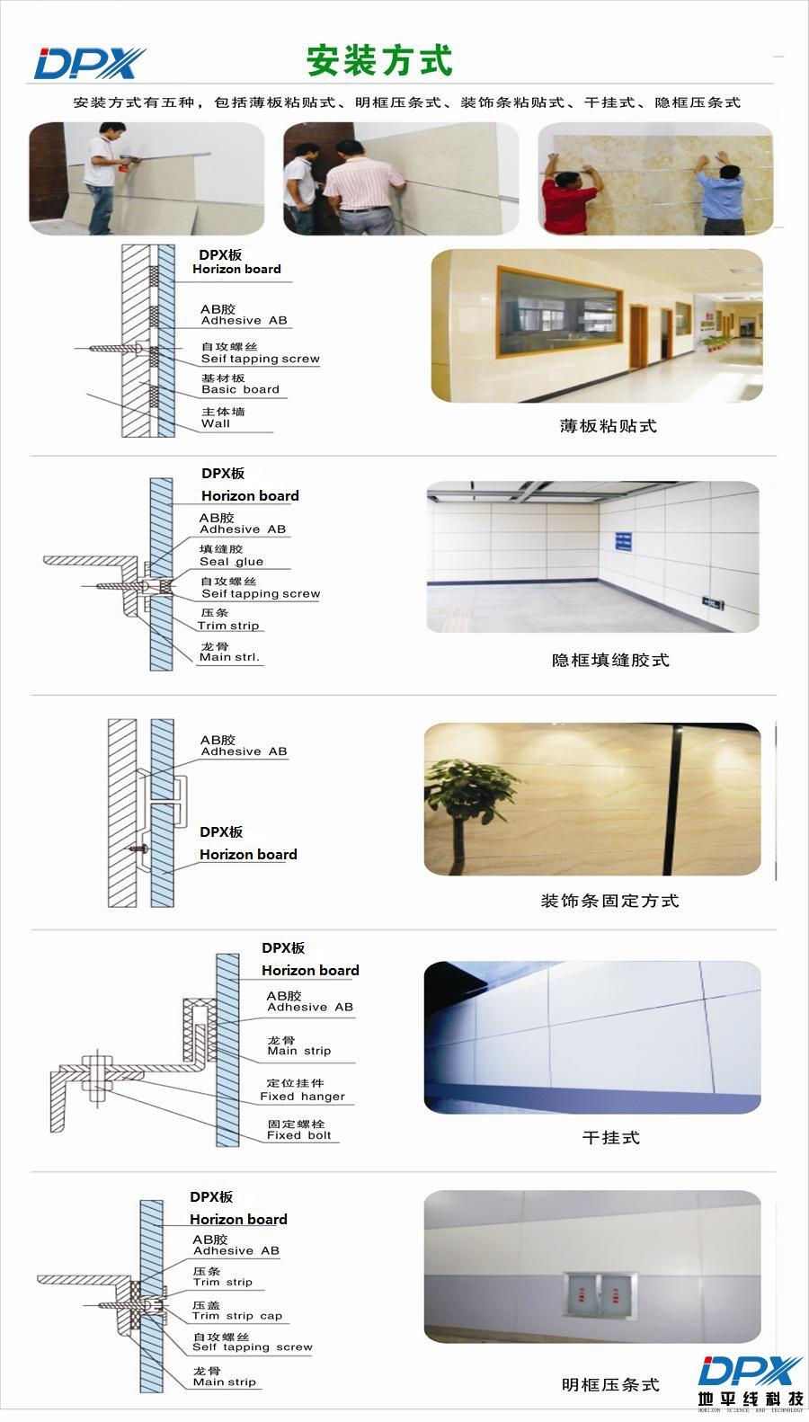 内墙装饰板施工结构图